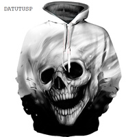 DATUTUSP 2017 Brand New 3D Hooded Hoodies Skulls Printed Men Women Halloween Casual Loose 3D Sweatshirt