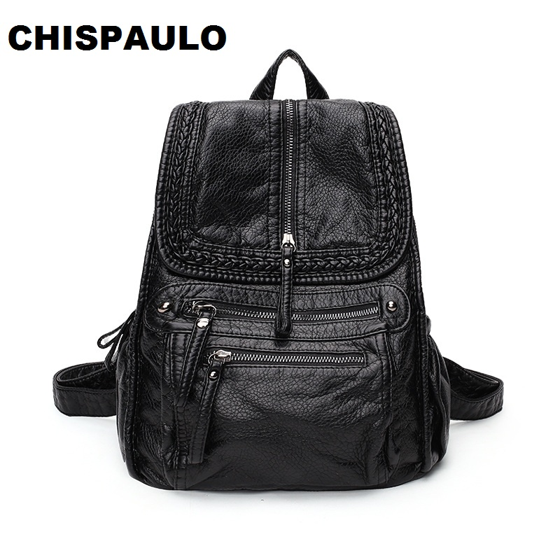 New 2017 Brand Genuine Leather Backpacks Travel Bag Function Bags Backpack Male Women Backpack Schoolbag Business Backpacks C281