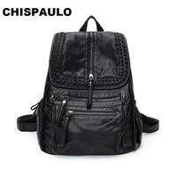 NEW 2017 Brand Genuine Leather Backpacks Travel Bag function bags Backpack Male women Backpack Schoolbag Business Backpacks C281