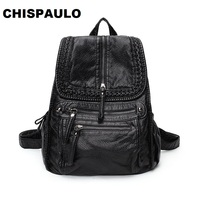 NEW 2019 Brand Genuine Leather Backpacks Travel Bag function bags Backpack Male women Backpack Schoolbag Business Backpacks C281