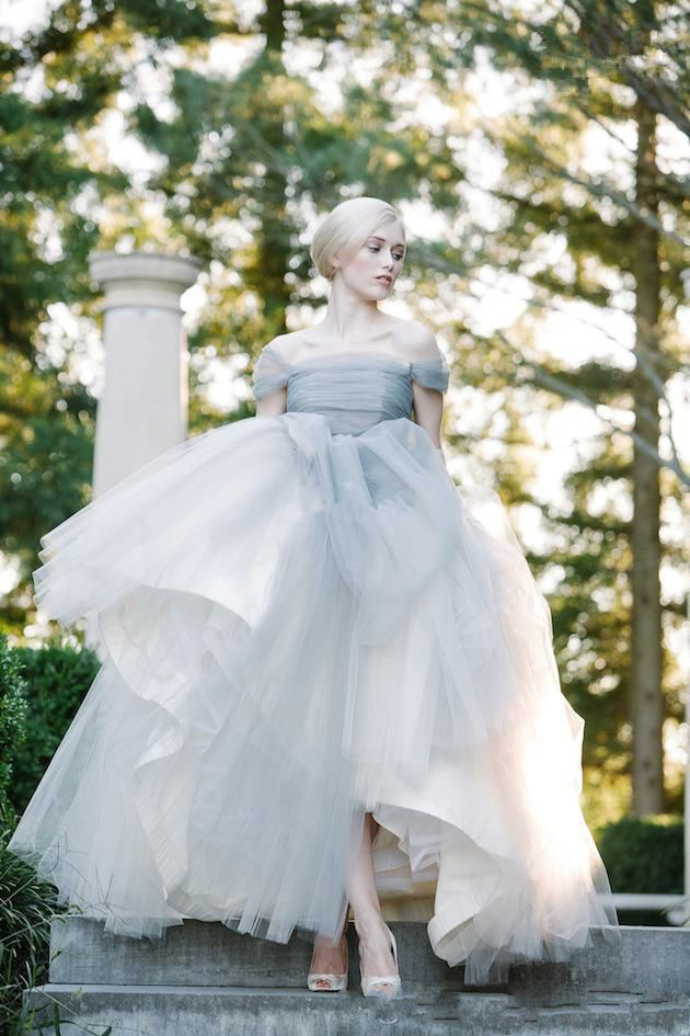 Elegant princess vintage ball gown off the shoulder tulle for Vintage off the shoulder wedding dresses