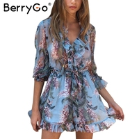 BerryGo Boho Chiffon Short Party Dresses Vestidos De Festa Vintage Summer Dress Women Two Piece Set