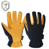 OZERO Deerskin Winter Warm Gloves Men S Work Driver Windproof Security Protection Wear Safety Working For