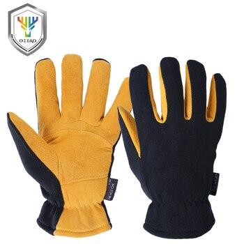 OZERO Deerskin hiver gants chauds hommes travail conducteur coupe-vent Protection de sécurité porter sécurité travail pour hommes femme gants 9009
