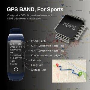 Image 5 - Makibes G03 artı renkli ekran erkek spor takip bilekliği IP68 su geçirmez GPS akıllı bant saatler bilezik Android ios için