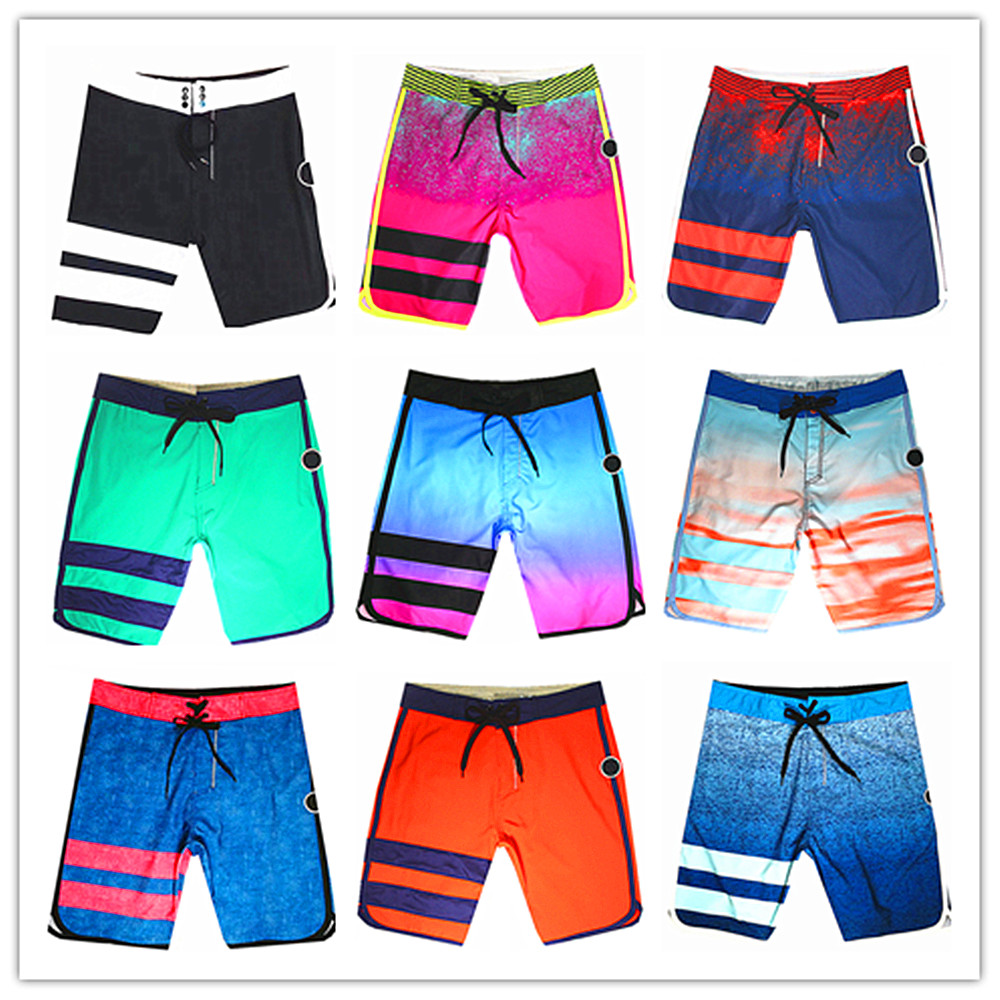 2019 Brand Phantom Beach   Board     Shorts   Men Elastic Beach Swimwear 100% Quick Dry Spandex Male Boardshorts Sexy Swimtrunks M-XXL