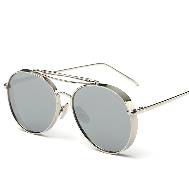 95bd2d53c5 New Fashion Steampunk Women Sunglasses Vintage Brand Double Bridge  Sunglasses Men Sun Glasses Metal Frame Goggle Summer Shades