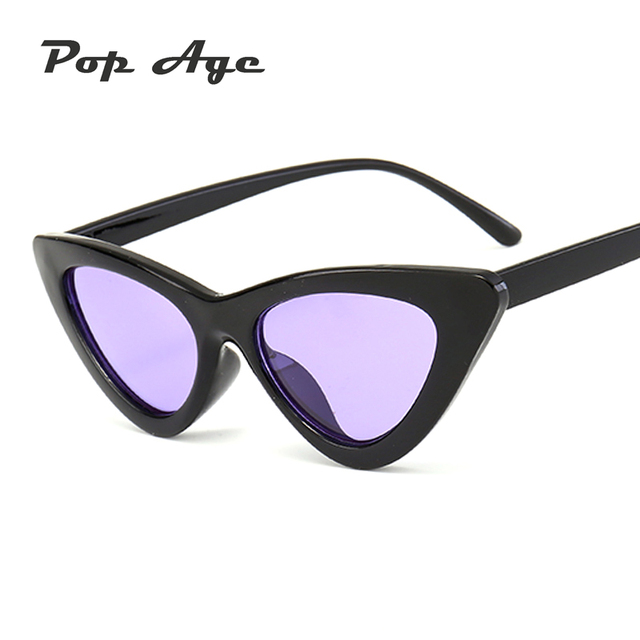 6368af5d49 Pop Age 2017 High quality Cat Eye Sunglasses Women Retro Mirror Cheap  Sunglasses For Female Eyeglasses Lunette de soleil 9 Color