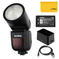 Godox V1 Round Ring Flash Adjustable Light Head TTL 2.4G Wireless with Battery Compatible for Canon