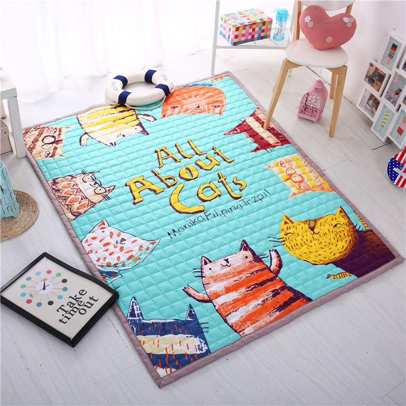 Cartoon Baby Play Mat Quality Kids Play Carpets Thicken Outdoor Baby Crawling Mats Baby Crawling Puzzle Carpet Soft Room Rugs learning carpets us map carpet lc 201