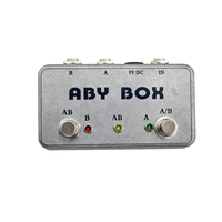 2018 New Hand Made ABY Selector Footswitch Foot Switch Pedal for Guitar / Bass