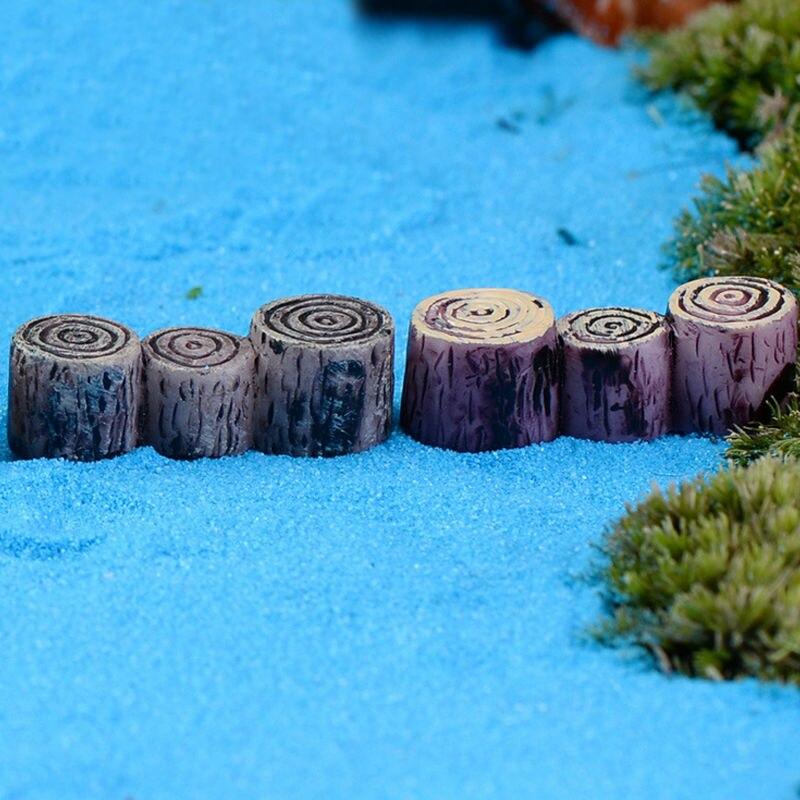 Wooden Pier Stump Moss Micro Landscape Bridge Piers Furnishing Articles DIY  Crafts Figurines Miniatures Model Garden