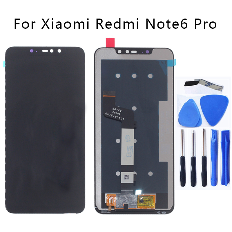 Original display for Redmi Note 6 Pro LCD touch screen digitizer for Xiaomi Redmi Note 6 Pro LCD monitor replacement+Free tools-in Mobile Phone LCD Screens from Cellphones & Telecommunications