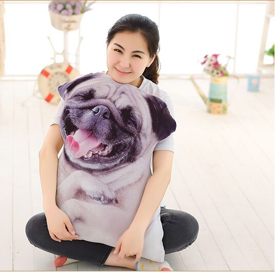 creative 3D Dimensional shar pei dog plush toy soft throw pillow,cushion about 70cm 0068 fancytrader 120cm super lovely jumbo plush shar pei dog toy large dog doll sleeping pillow gift for child free shipping ft50048