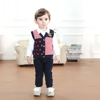 Baby Boy Clothes Wholesale Kids Fashion Jongens Kleding Kinder Kleding Boy Plaid 2 Pcs Spring Single