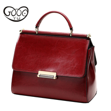 купить Genuine Leather Bag Saffiano Famous Brands Women Leather Handbags Oil Wax Cowhide Luxury Handbags Women Bag Designer Tote Bag по цене 5431.48 рублей