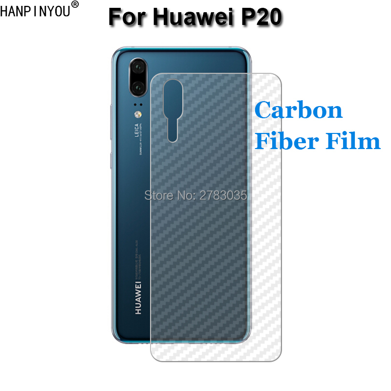 For Huawei P20 5.8 New Durable 3D Anti-fingerprint Transparent Carbon Fiber Back Film Sc ...