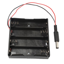 MasterFire 40pcs/lot 18650 Battery Holder Plastic Storage Box Case for 4 x With DC5.5*2.1mm Power Plug