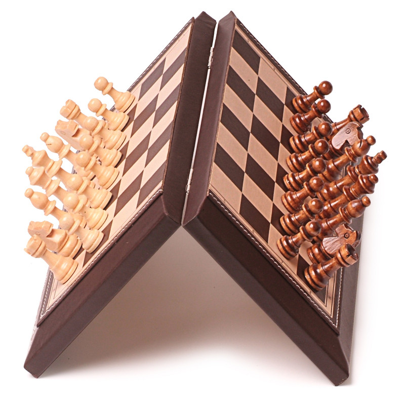 BSTFAMLY chess set game, portable game of international chess, magnetic folding plastic chessboard wood chess pieces, LA38 bstfamly carving wooden chess set game portable game of international chess folding chessboard wood chess pieces chessman i13