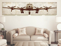 Huge Size B29 Giclee Print Airplane Canvas Art Gallery Wrap 24 24 5 Pcs In All