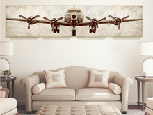 "Huge size B29 giclee print Airplane canvas art, for gallery wrap 24*24"" 4 pcs in all ,wall decor, bedroom idea"
