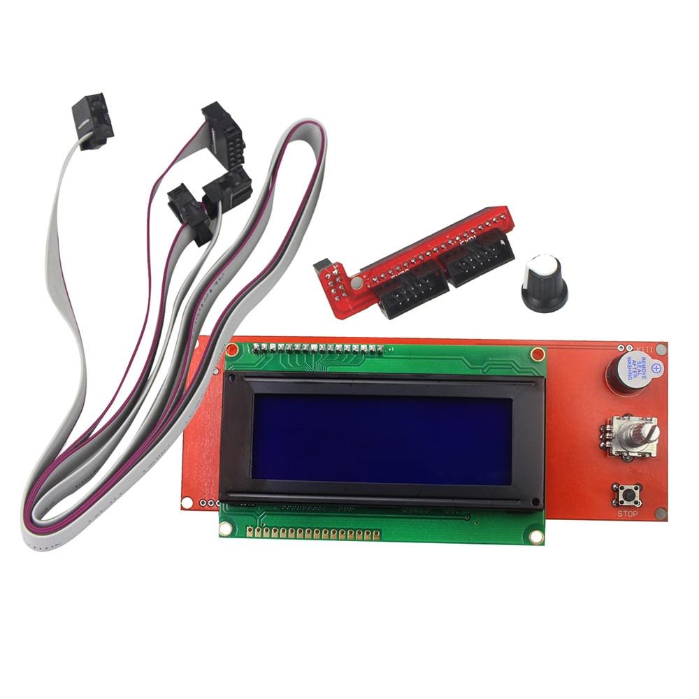 3d printer kit reprap smart parts controller display reprap ramps 1 4 2004 lcd lcd 2004 control [ 1000 x 1000 Pixel ]