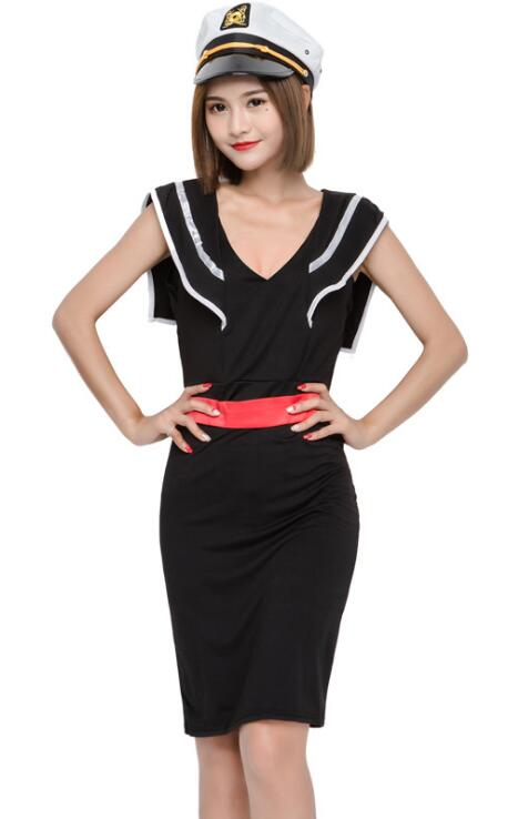 Woman's Sexy Navy Sailor Suit Costume Cosplay For Halloween Game Stage Bar Costume Cosplay