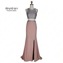 oucui Luxury Heavy Beading Two Pieces Mermaid Evening Dress
