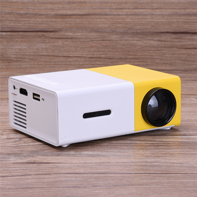 LED Portable Projector 400LM 3.5mm Audio 320x240 Pixels HDMI Mini Home Media Player Support PowerBank Powered High Quality YG300