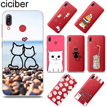 ciciber Funny Cartoon Cat for ASUS Zenfone Max Pro M1 ZB601KL ZB602KL TPU Phone Cases for ZenFone MAX Plus M1 ZB555KL ZB570TL