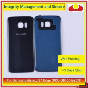 Image 4 - 50 unids/lote para Samsung Galaxy S7 Edge G935 G9350 G935F SM G935F carcasa batería puerta para parabrisas trasero funda carcasa chasis