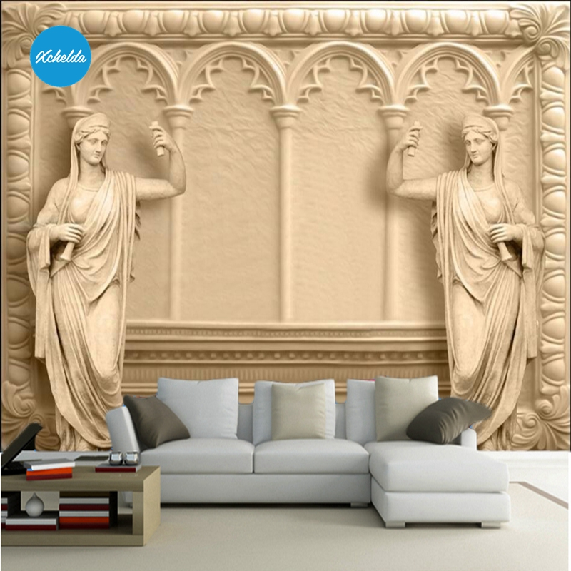 XCHELDA Custom 3D Wallpaper Design Sculpture Photo Kitchen Bedroom Living Room Wall Murals Papel De Parede Para Quarto kalameng custom 3d wallpaper design street flower photo kitchen bedroom living room wall murals papel de parede para quarto