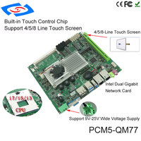Intel QM77 Chipset Dual Lan Industrial Embedded Mini Motherboard With 6 Serial Ports Support 3G WIFI Mainboard