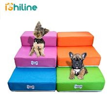 Pet Stairs Breathable Mesh Foldable Detachable Bed Dog Ramp 2 Steps Ladder for Small Dogs Puppy Cat