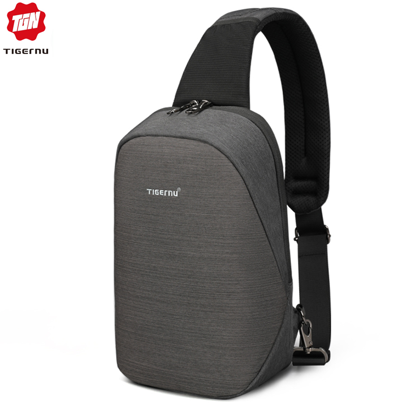 Tigernu 2019 Multifunction Crossbody Bag for Men Anti theft Shoulder Messenger Bags Male Waterproof Short Trip