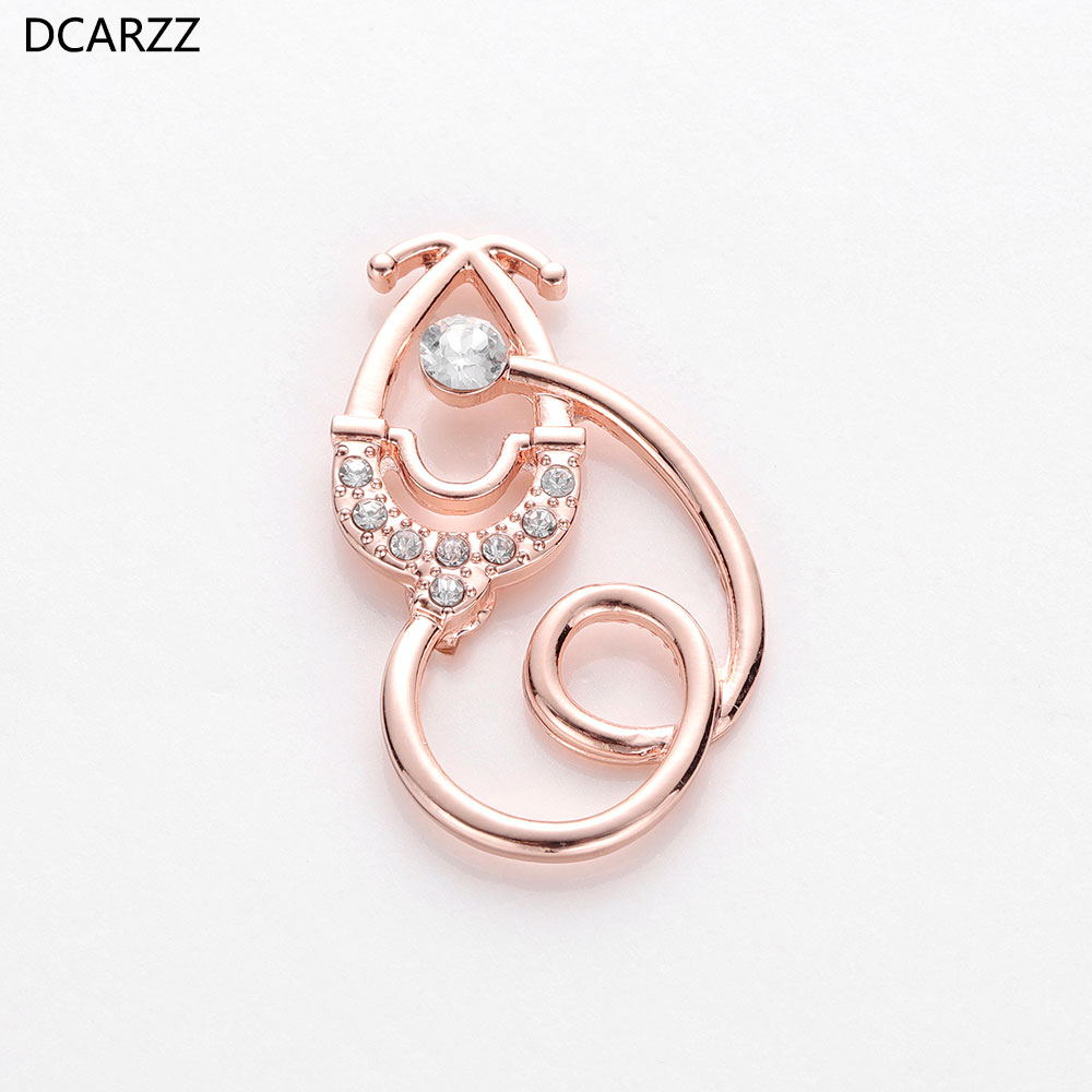 Medical Gift Doctor Nurse Gold Silver Rose Gold Pins Metal Classic Jewelry Brooches Women