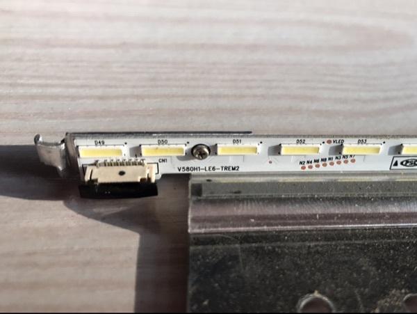 PARA Hisense changhong TV LCD LED backlight V580H1-LE6-TREM2 V580HK1-LE6 64 LEDs é usado garantia de Qualidade Sem placa de alumínio