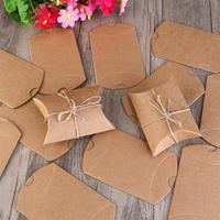 50 sztuk Vintage Papier Pakowy Pudełko Na Cukierki Przekąskę Piekarni Wydarzenie Prezent Pakiet Świeca Brązowy Ręczniki Papierowe Pudełka Do Pakowania