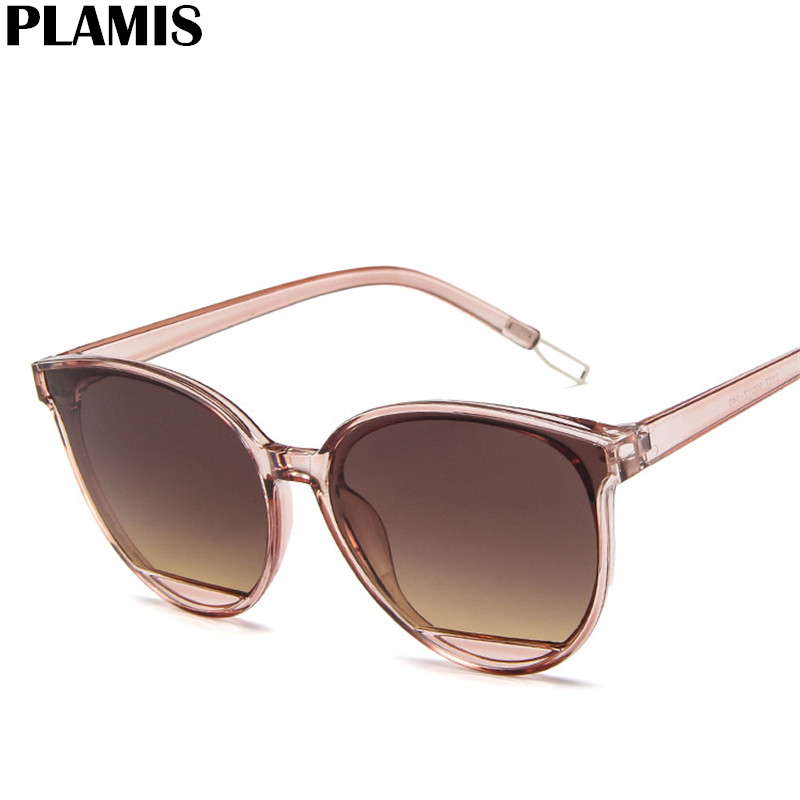 Fashion Sunglasses Mirror-Classoc Oculos-De-Sol Big-Frame Vintage Women UV400 Metal Feminino