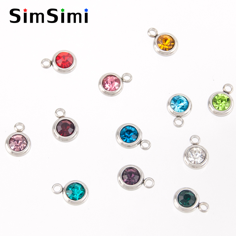 Jewellery & Watches Simsimi Mix Styles Birth Stones Charm Choker Lucky Stone For Women Female Jewelry Stainless Steel Origin Fashion Necklaces Gift Online Discount