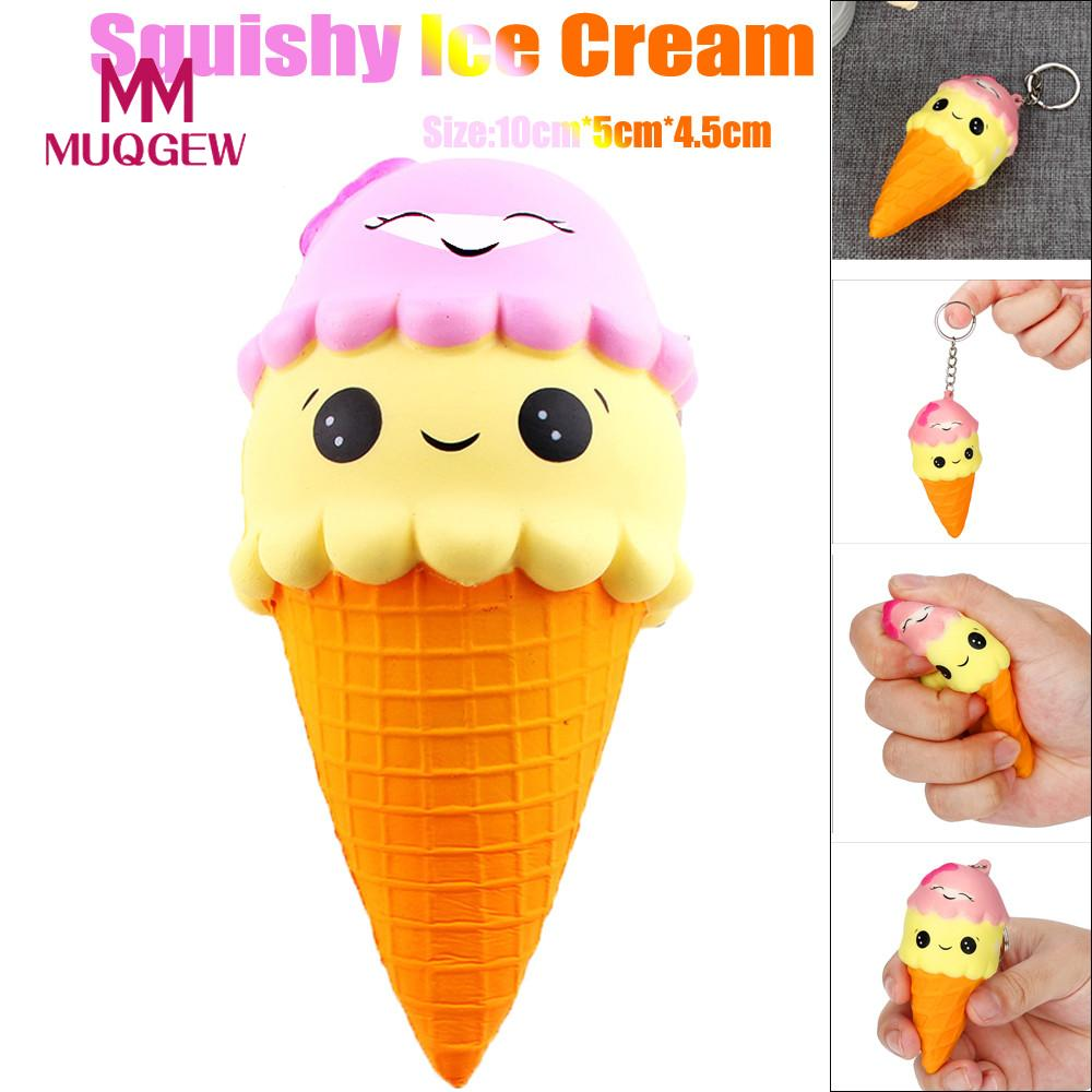 Stress Relief Toy Relax Toys Cute Silly Squishy Chocolate Ice Cream Charm Slow Rising Squeeze Stress Reliever Toys Squishies Soft Scented D301229