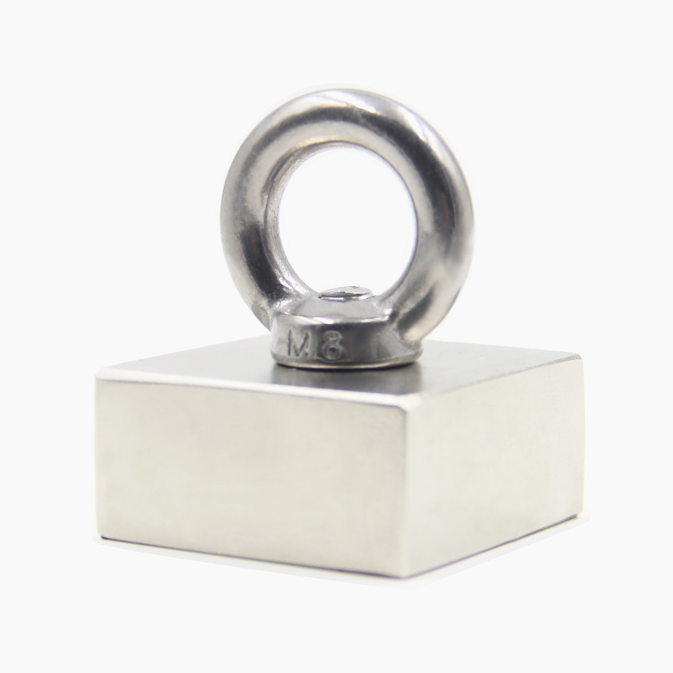Super Powerful Strong Rare Earth block hole magnet Neodymium N50 Magnets F50*50*25mm(45mmx45mmx21mm)