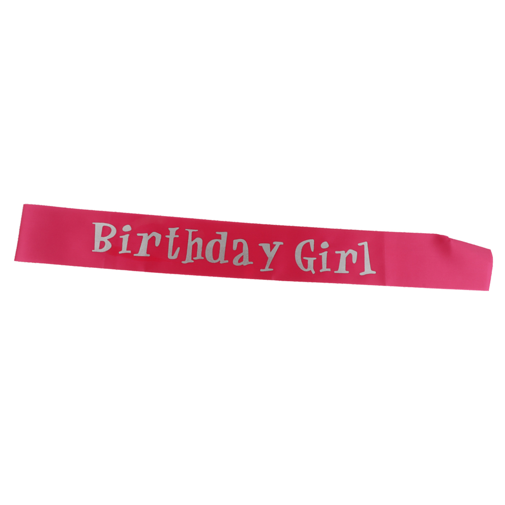 """aus Satin /"""" Birthday Girl /"""" Schärpe Sash für Mädchen"""