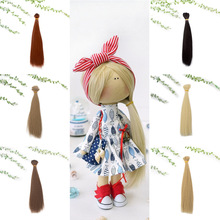10PCS/LOT New 20CM Accessories Doll Hair Straight DIY BJD For Wigs