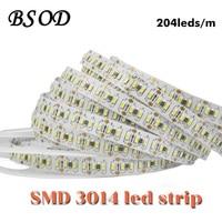 BSOD SMD 3014นำแถบDC12V 204 leds/
