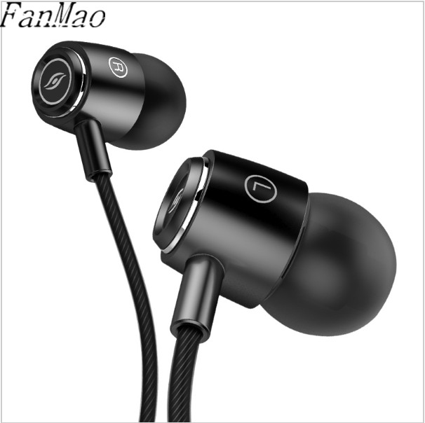 FanMao A8 Metal Sport Earphones with Microphone for Mobile Phone MP3 Subwoofer In-Ear Earbuds HiFi Earpiece Stereo Bass Headset x6 hifi dj bass in ear earphones with microphone for mobile phone universal wired earbuds subwoofer headset for iphone 6 xiaomi