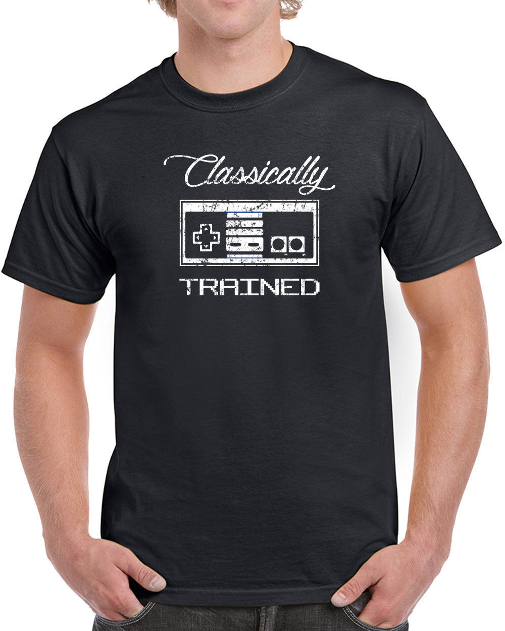 Online Shirt Store MenS New Style Crew Neck Short Sleeve Classically Trained Video Game Controller Tee Shirt