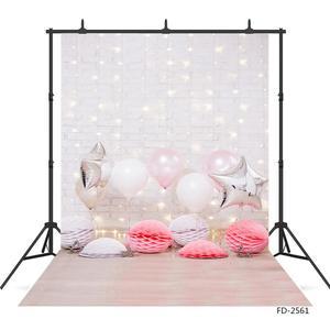 Image 1 - Balony ściana z cegły fotograficzne tła tkanina winylowa zdjęcie strzelaniny tło dla dziecka urodziny dzieci zdjęcie z imprezy Studio