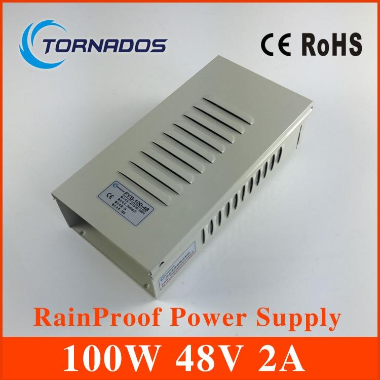 48V 2A 100W Rainproof switch mode power supply FY-100-48 SMPS adapter 220V AC to DC 48V Lighting Transformer 4pcs 12v 1a cctv system power dc switch power supply adapter for cctv system