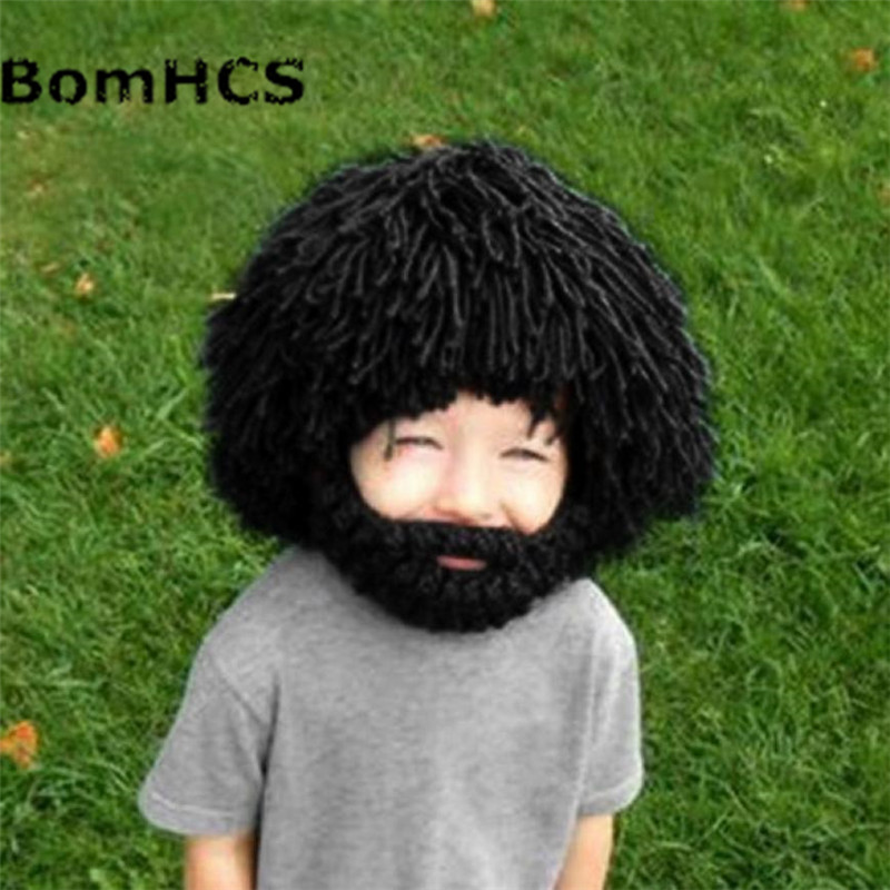 2019 Fashion Bomhcs Wig Beard Hat Hobo Mad Scientist Rasta Caveman Handmade Winter Knit Warm Unisex Cap Gift Funny Party Mask Beanies Kid Removing Obstruction